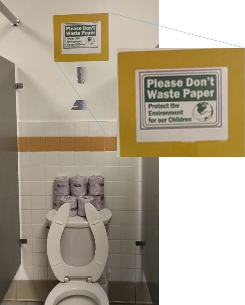 Conserve paper sign